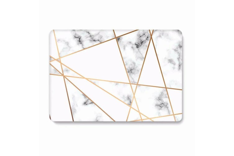 """Marble Frosted Matte Hard Case with Free Keyboard Cover for MacBook Pro 13"""" 2016-2018 A1708(no Touch Bar)-Gray Marble"""