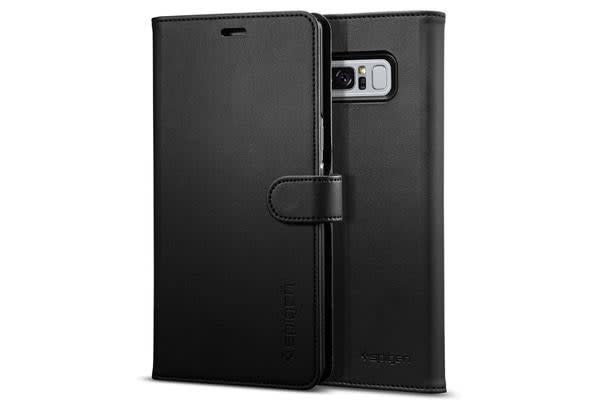 Spigen Galaxy Note 8 Premium Wallet Case Black