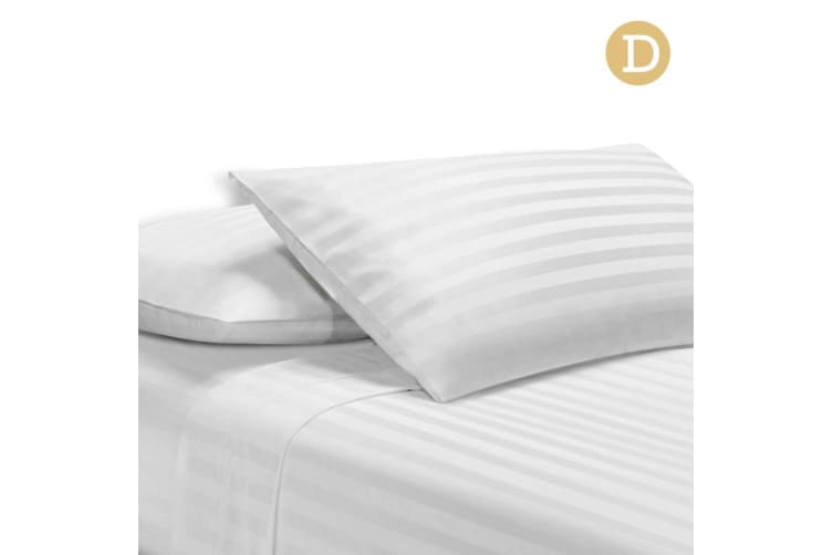 Giselle Bedding 1000TC Egyptian Cotton Satin Bed Sheet Set Flat Fitted Strip D