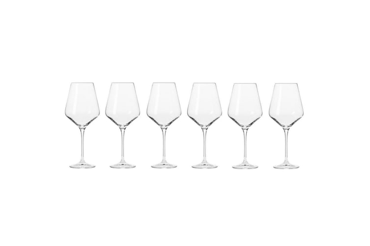 6pc Krosno Avant-Garde 490ml Red Wine Drinkware Glasses Barware Drinking Glasses