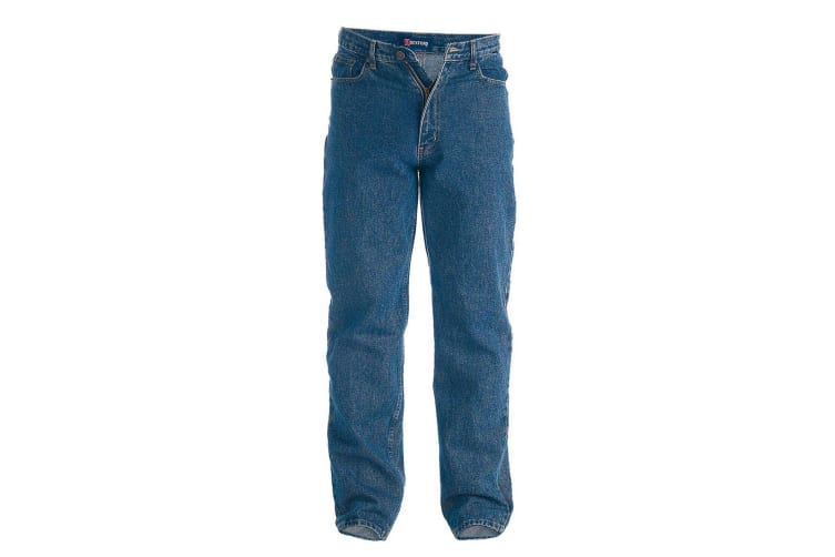Duke Mens Rockford Tall Comfort Fit Jeans (Stonewash) (42XL)