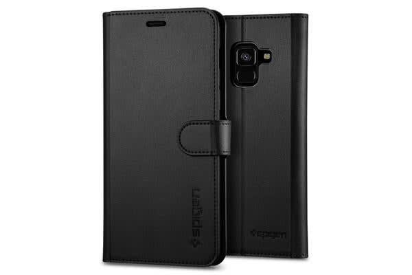 Spigen Galaxy A8 (2018) Wallet Case - Black