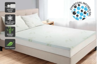 Trafalgar Bamboo Charcoal Mattress Topper (Single)