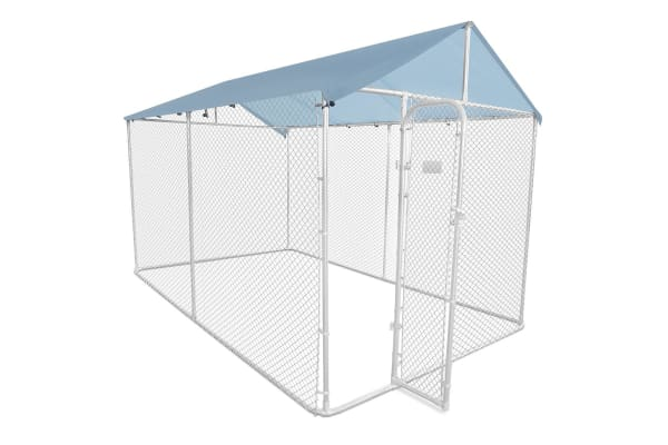 Dog Run Kennel Pet Enclosure Puppy Fence Cage Playpen 4x2.3x2.3m