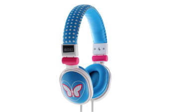Moki Poppers Over Ear Headphones - Butterfly Blue (ACCHPPOI)