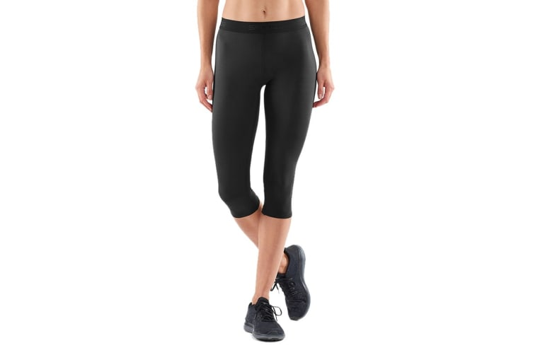 SKINS DNAmic Women's Capri Tights (Black/Black, Size XL)
