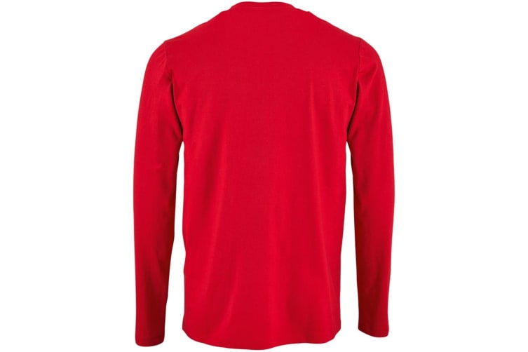 SOLS Mens Imperial Long Sleeve T-Shirt (Red) (XL)