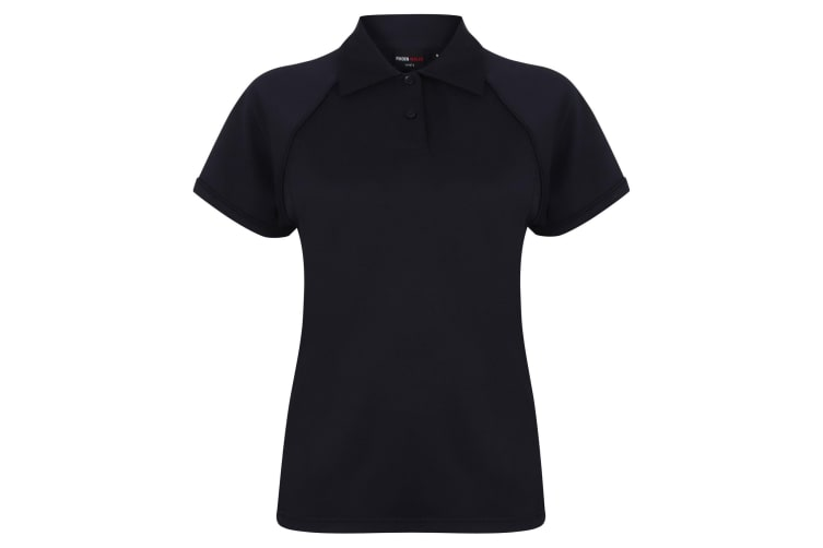 Finden & Hales Womens Coolplus Piped Sports Polo Shirt (Navy/Navy) (S)