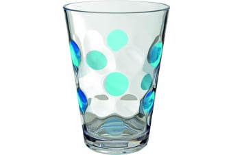 Modern Balloon Drinking Glasses (Pack Of 2) (Blue) (One Size)