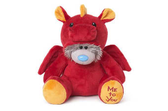 """Me To You 9"""" Tatty Teddy Dressed As - Red Dragon"""