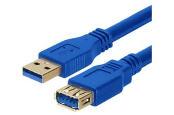 Astrotek USB 3.0 Extension Cable 3m - Type A Male to Type A Female Blue Colour