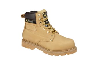 Grafters Mens Gladiator Safety Boots (Honey) (10 UK)