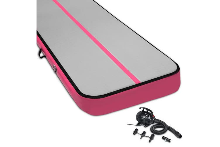 Everfit 8MX1M Airtrack Inflatable Air Track Tumbling Mat Floor Gymnastics Pink