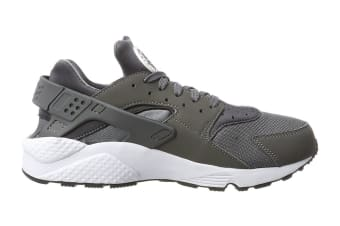 Nike Men's Air Huarache Run Running Shoe (Dark Grey/White, Size 7.5)