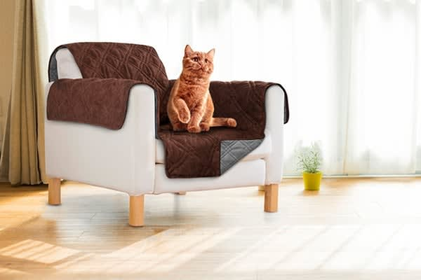 Sprint Industries Pet's Sofa Cover (Single Chair Size, Chocolate/Charcoal)