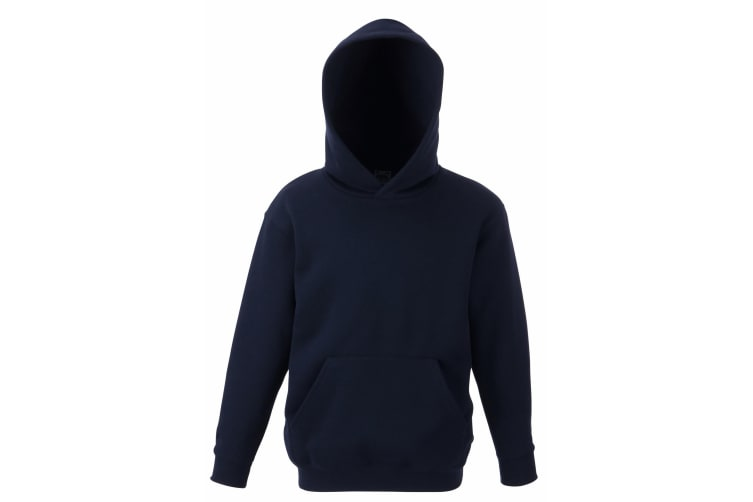 Fruit Of The Loom Kids Unisex Premium 70/30 Hooded Sweatshirt / Hoodie (Deep Navy) (14-15 Years)