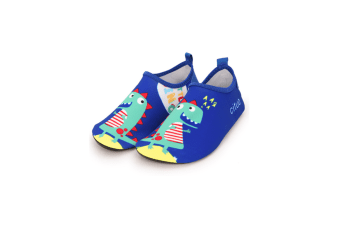 Kids Swim Water Shoes Non-Slip Quick Dry Barefoot Aqua Pool Socks Shoes - 2 23-24