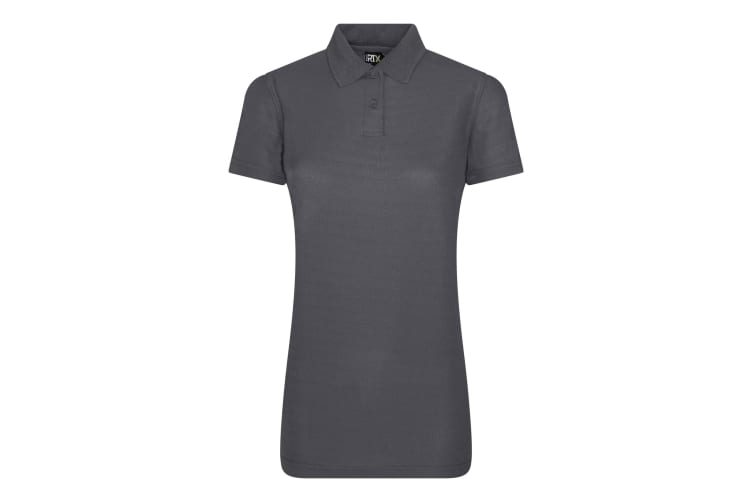 Pro RTX Womens/Ladies Pro Polyester Polo (Solid Grey) (L)