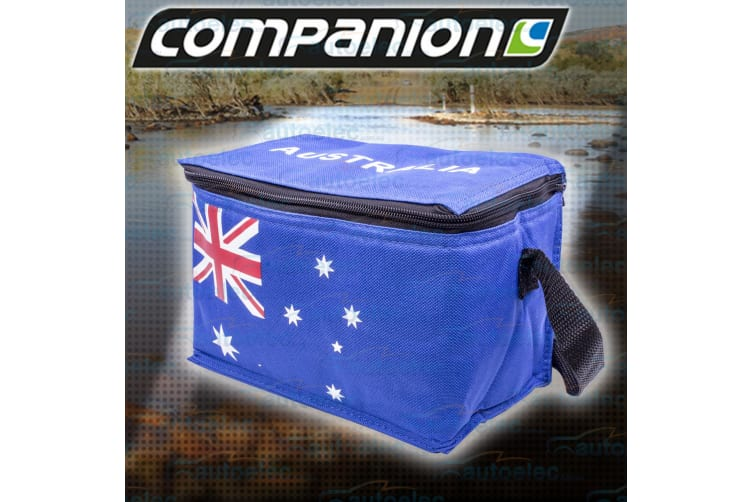 COMPANION DAY TRIP CAR CAMPING INSULATED SOFT COOLER PORTABLE BAG AUSSIE 6 CAN