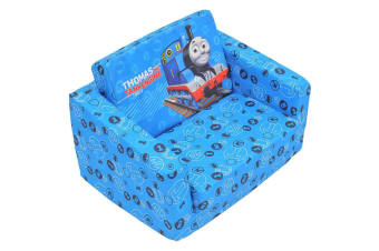 Thomas & Friends 60cm Kids/Children Flip Out Home Sofa/Lounge/Couch/Chair Blue