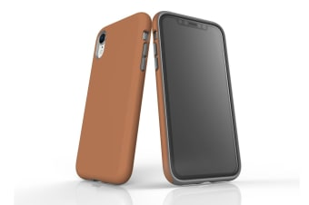 Brown For iPhone XR Tough Case  Protective Back Cover