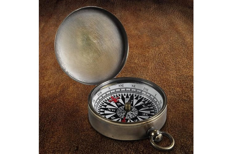 19th Century Bronze Campaign Trail Compass
