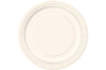 Unique Party Paper Party Plates (Pack Of 16) (Ivory) (One Size)