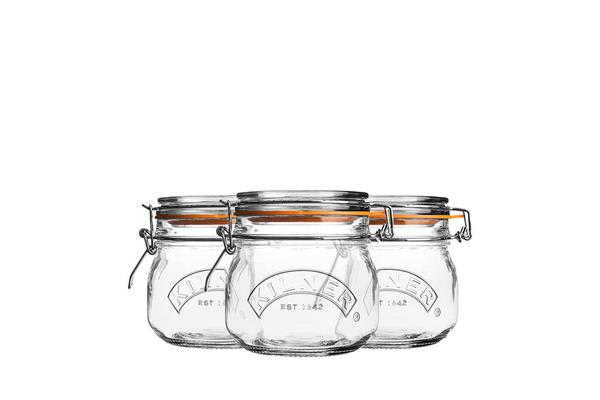 Kilner Clip Jar Round Set of 3 500ml