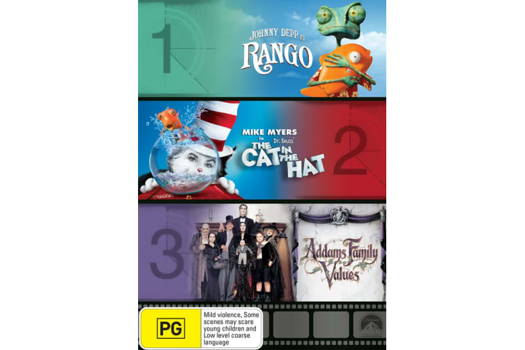 Rango / The Cat in the Hat / Addams Family Values DVD Region 4