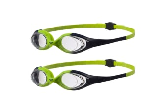 2PK Arena Spider JR Swimming Goggle Anti-Fog Adjustable Glasses Kids 6-12y Green