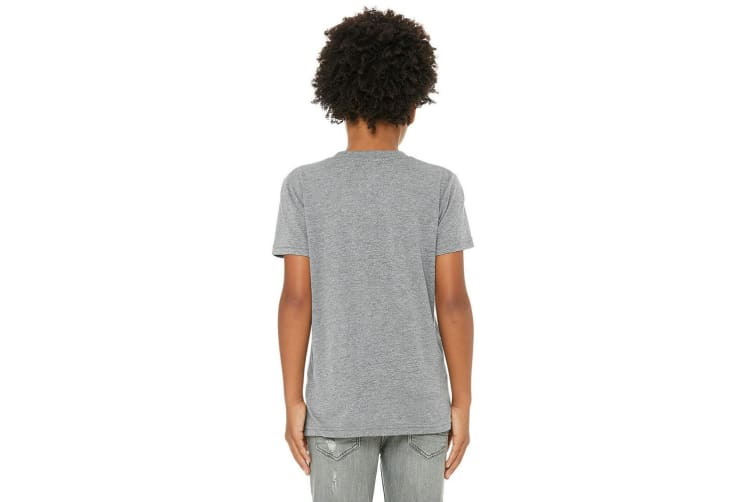Bella + Canvas Youth Triblend T-Shirt (Grey Triblend) (M)