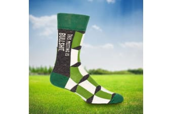 This Meeting Is Bullsh*t Socks - Men (Green)