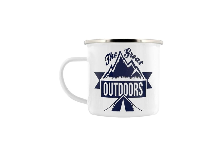 Grindstore A Wide World Enamel Mug (White) (One Size)