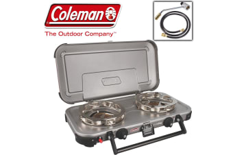 Coleman Hyperflame Fyreknight Stove Cooker Food Portable 2 Twin Double Burner