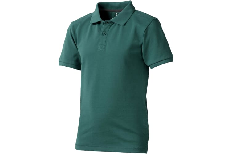 Elevate Childrens/Kids Calgary Short Sleeve Polo (Forest Green) (H152cm)