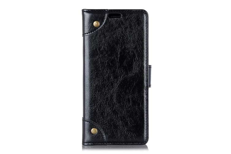 For Samsung Galaxy S10e Case Black Nappa Texture PU Leather Wallet Cover