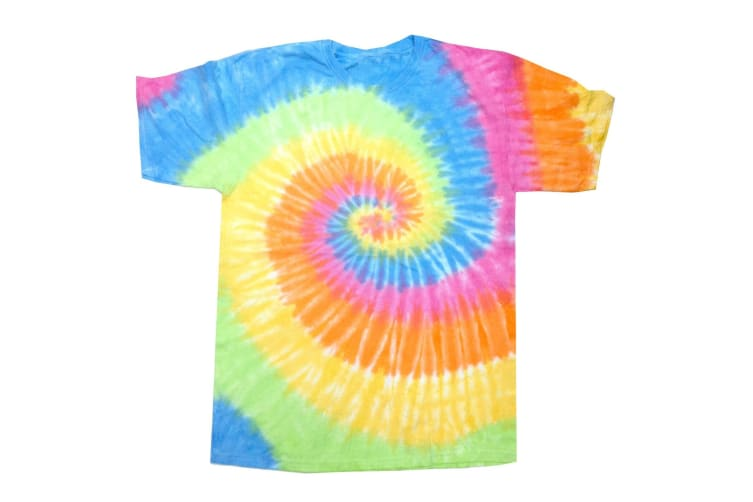 Colortone Womens/Ladies Rainbow Tie-Dye Short Sleeve Heavyweight T-Shirt (Eternity) (S)