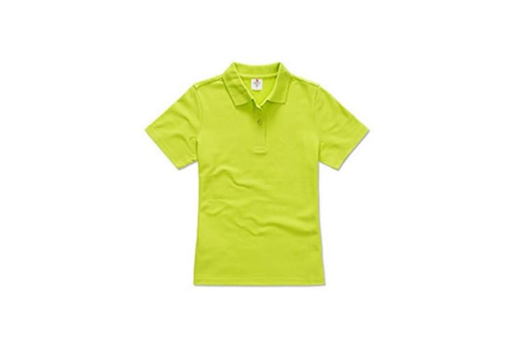 Stedman Womens/Ladies Cotton Polo (Bright Lime) (S)