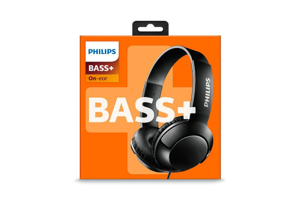 Philips BASS+ On-Ear Headphones - Black (SHL3070BK)