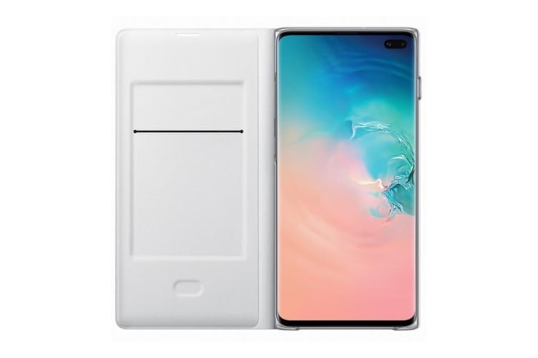 Samsung Galaxy S10+ Plus LED View Wallet Cover - White