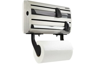 LEIFHEIT PARAT ROYAL WALL MOUNTED ROLL DISPENSER STAINLESS STEEL 25660