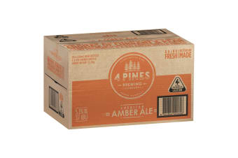 4 Pines American Amber Beer 24 x 330mL Bottles