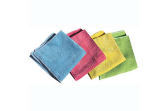 4pc E-Cloth General Purpose Cleaning Kitchen Dish Car Gym Wash Towel Fibre Cloth