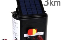 3km Solar Power Electric Fence Energiser Charger