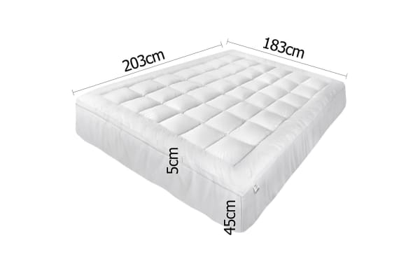 Pillowtop Mattress Topper Memory Resistant Protector Pad Cover (King)