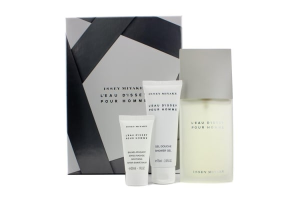 Issey Miyake Issey Miyake Coffret: Eau De Toilette Spray 125ml/4.2oz + Shower Gel 75ml/2.5oz + Soothing After Shave Balm 30ml/1oz (3pcs)