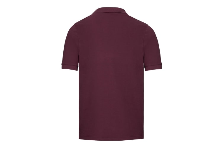 Russell Mens Tailored Stretch Pique Polo Shirt (Burgundy) (XXL)