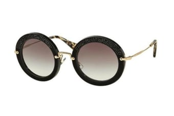 Miu Miu MU08RS - Black (Grey Gradient lens) Womens Sunglasses
