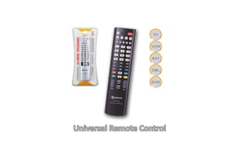 Sansai 5-In-1 Universal TV Remote Comfortable handhold design Silver and Black
