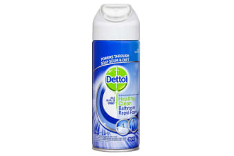 Dettol 390g Healthy Clean Home Bathroom Rapid Bath Foam Spray Cleaner Lime Scent